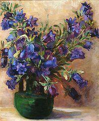 Still Life: Flowers in Vase; Blue Flowers