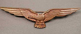 Aviator badge - Royal Hungarian Air Force Observers Badge metal version