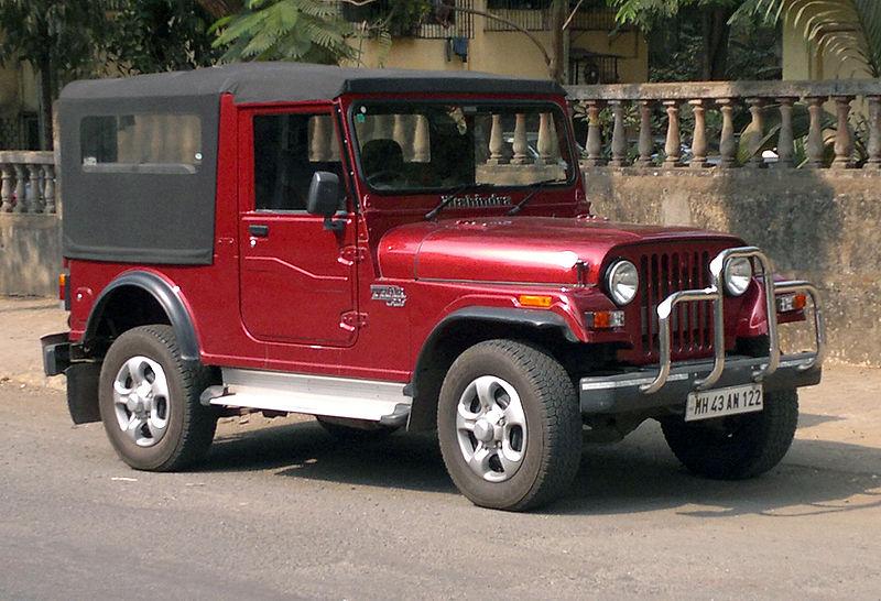 File:Mahindra Thar in dark red.jpg