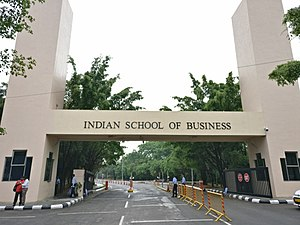 Indian School of Business - The entrance to ISB's Hyderabad campus