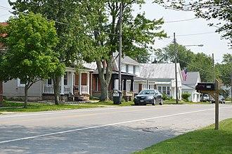 Mount Cory, Ohio - Houses on Main Street