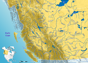 Hay River (Canada) - Image: Major Rivers in West Canada