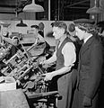 Making Shoes For the Wrens- the Manufacture of Footwear For the Women's Royal Naval Service at a Factory in the Midlands, England, UK, 1944 D23043.jpg