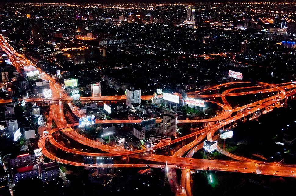 Makkasan Interchange at night by Mark Fischer