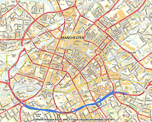 English: street map using OS Streetview open m...