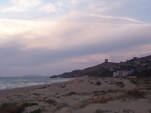 Manfria - View of Manfria beach with the coastal tower