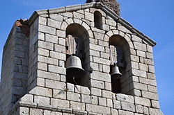 Bell tower of San Miguel church, Manjabálago, Ávila.