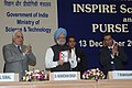 Manmohan Singh launching the INSPIRE- Innovation of Science Pursuit for Inspired Research, a scholarship programme of the Department of Science & Technology.jpg