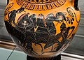 Manner of the Antimenes Painter - ABV 278 37 - chariot and hoplite - horseman and youths - Firenze MAN 70998 - 02.jpg