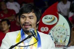English: Manny Pacquiao during the opening cer...