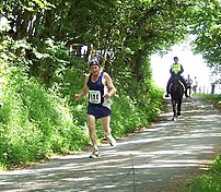 Competitors in the 2006 Man versus Horse Marathon