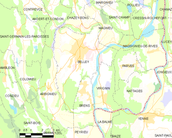 Map of the commune de Belley