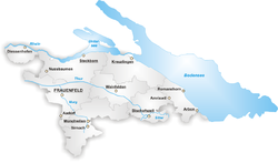 Map of the Canton of Thurgau