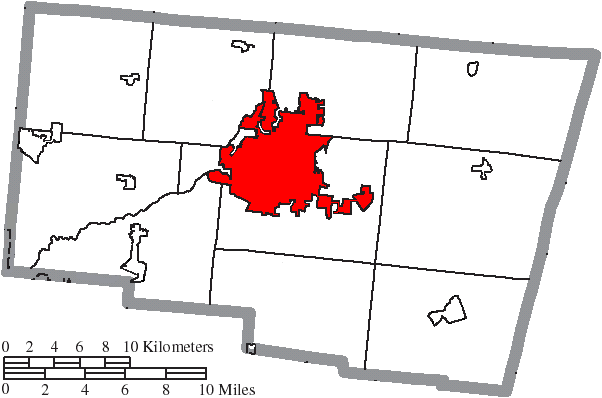 Location of Springfield in Clark County