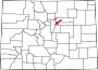 Map of Colorado highlighting Denver County.svg