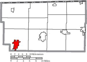 Archbold, Ohio - Image: Map of Fulton County Ohio Highlighting Archbold Village
