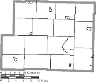 New Athens, Ohio - Image: Map of Harrison County Ohio Highlighting New Athens Village