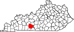 State map highlighting Warren County