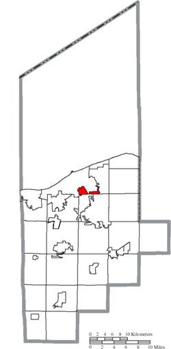 Location of Sheffield Township in Lorain County