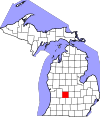 State map highlighting Ionia County