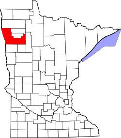 Map of Minnesota highlighting Polk County.svg