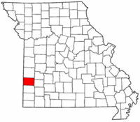 Map of Missouri highlighting Barton County.png