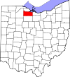 State map highlighting Sandusky County
