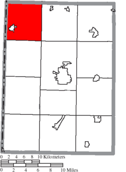 Location of Jefferson Township in Preble County