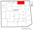 Map of Tioga County Pennsylvania Highlighting Lawrence Township.PNG