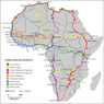 Karte der Trans-African Highways