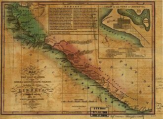 History of Liberia - Map of Liberia circa 1830