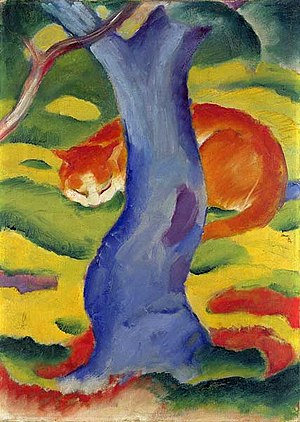 Anita Halpin - Cat Behind A Tree by Franz Marc