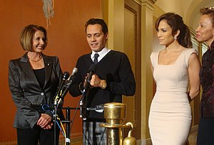 Marc Anthony - Jennifer Lopez and Marc Anthony, with Nancy Pelosi and Nydia Velázquez