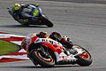 Marc Márquez and Valentino Rossi 2014 Sepang 5.jpeg