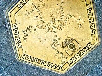 Marco Zero (São Paulo) - Top of the monument