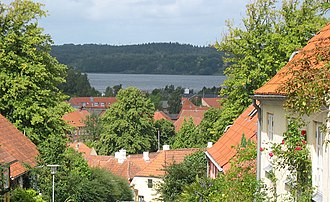 Mariager - Mariager with a view towards the fjord