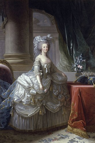 Pannier (clothing) - Image: Marie Antoinette by Vigee Le Brun