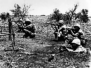 Marines mopping up Tinian Island