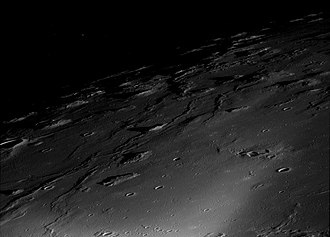 Marius Hills - Oblique view of Marius Hills by Apollo 12