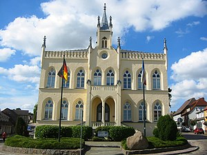 Marlow, Germany - Image: Marlow Rathaus August 2012