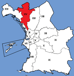 15th arrondissement of Marseille - Image: Marseille Arrondissements 15