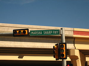 Marsha Sharp - The Marsha Sharp Freeway on U.S. Highway 82 in Lubbock