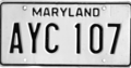 Maryland license plate, 1980.png
