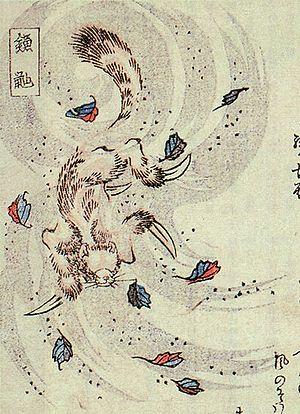 Kamaitachi opening -  representation of a kamaitachi