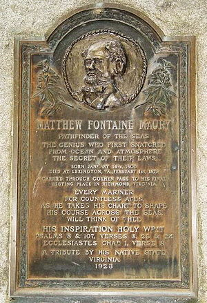 Matthew Fontaine Maury - Maury Memorial at Goshen Pass overlooking the Maury River