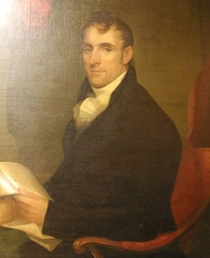 Matthias B. Tallmadge - 1810 portrait by Ezra Ames.  Currently part of Mabel Brady Garvan Collection, Yale University.