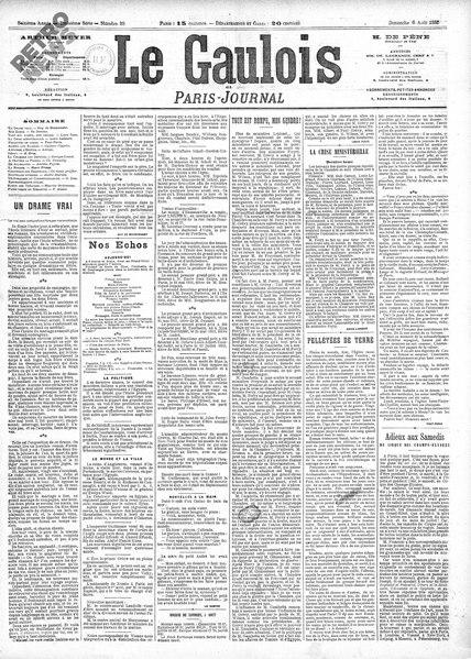 File:Maupassant - Un drame vrai, paru dans Le Gaulois, 6 août 1882.djvu