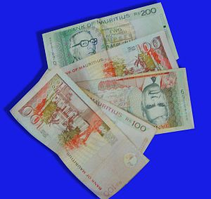 Tamil Mauritian - Image: Mauritius currency
