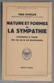 Max Scheler - Nature et formes de la sympathie.webp
