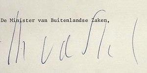 Max van der Stoel - Image: Max van der Stoel Signature